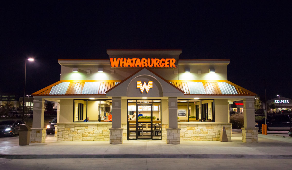 Whataburger restaurant exterior.