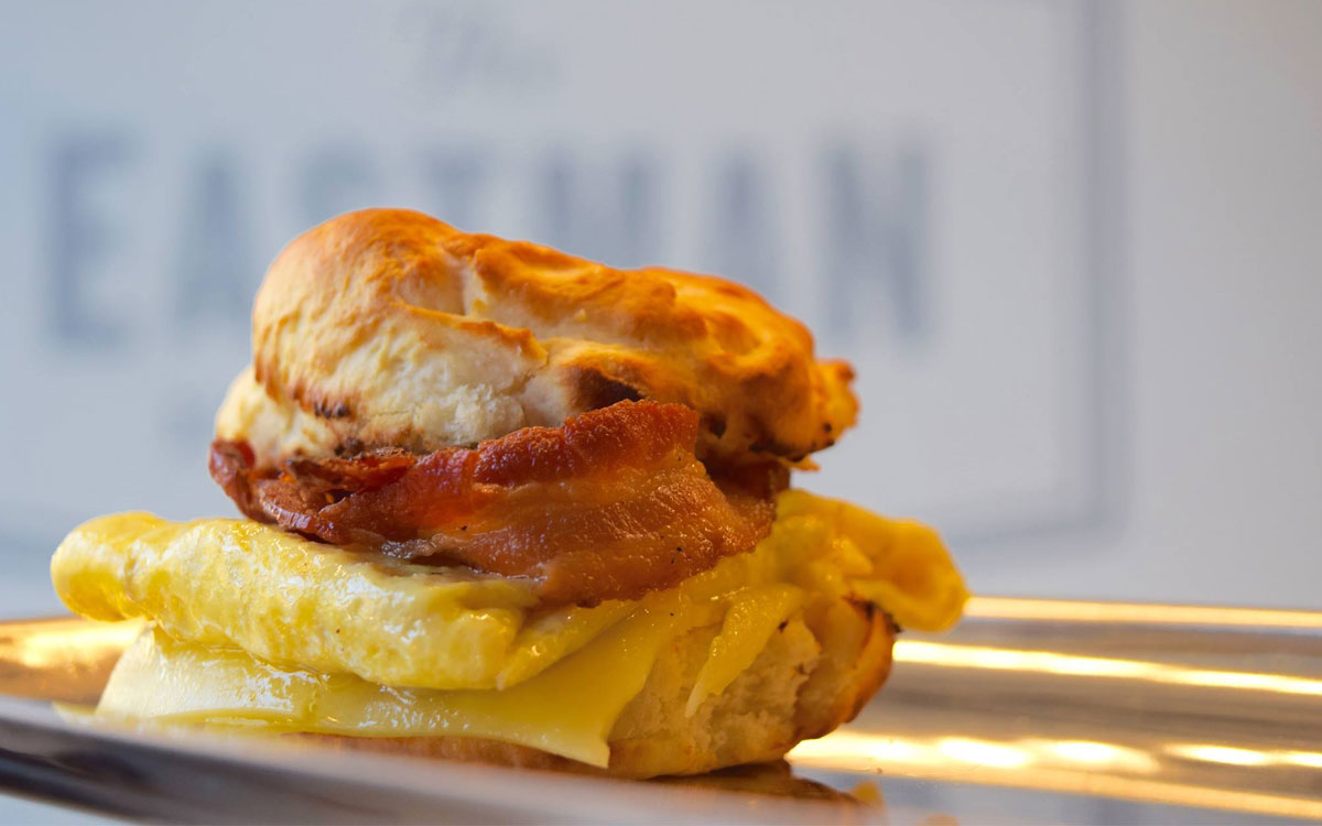 Biscuit and egg sandwich at The Eastman Egg Company.