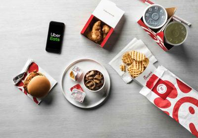 Chick-fil-A delivery with Uber Eats.