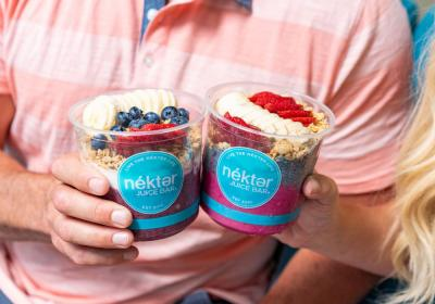 Nékter Juice Bar Layered Lifestyle Bowls.