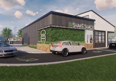Shake Shack drive up window rendering.