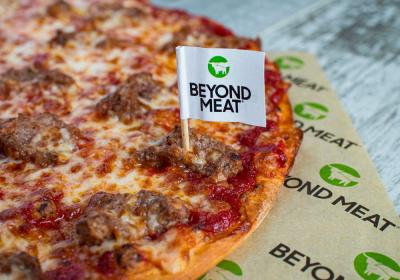 Beyond Meat pizza.