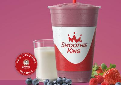 Smoothie King Vegan Mixed Berry Smoothie.