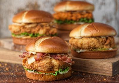 Slim Chickens craft sandwiches.