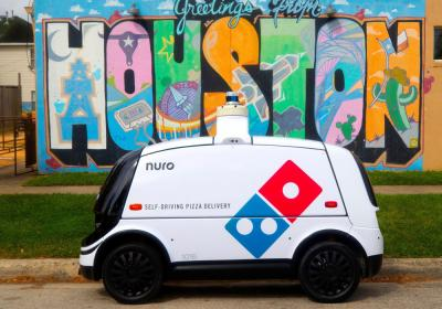 Domino's self-driving delivery car.