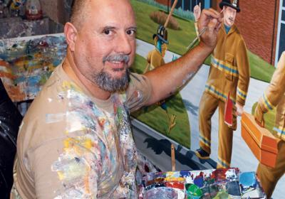 QSR sandwich brand Firehouse Subs employs artist to work on store murals.