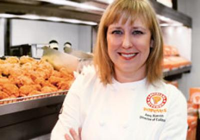 Popeyes Louisiana Kitchen's head chef,  Amy Alarcón, dishes about m