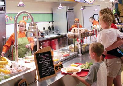 Thanks to the Kids LiveWell program, children can eat healthy while visiting the