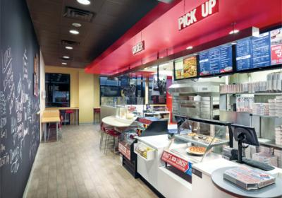 Domino's Pizza rolled out a new prototype with an enhanced store design.