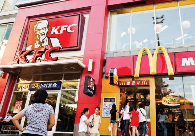 Brands like KFC and McDonald's have successfully grown around the world.