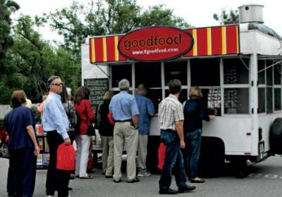 The Goodfood Truck in Orlando shops healthier fast food options around town.