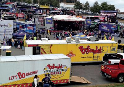 Quick service brands like Bojangles are moving into sports events like NASCAR.