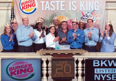 Burger King went public again in 2012 to gain needed financing.