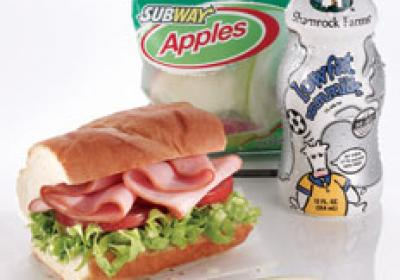 Subway offers a healthy alternative for kid customers.