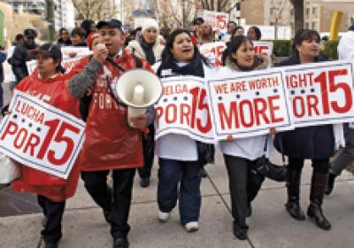Fast food restaurant employees across the country are protesting wages.
