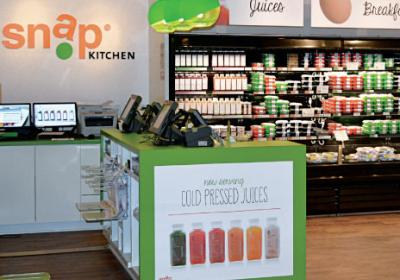 Quick serves like Snap Kitchen offer pre packaged grab and go menu options.