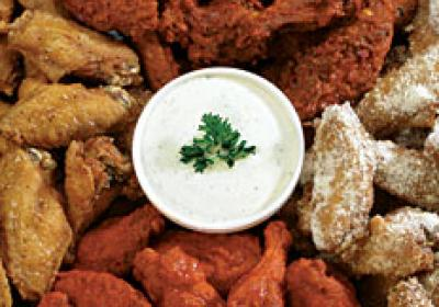 Chicken wings are a popular snack food for restaurants.