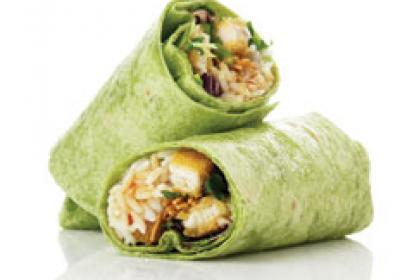 Evos offers typical fast-food fare minus the high calorie count.