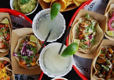 Food spread at R Taco.