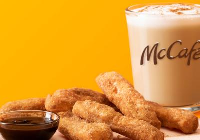 McCafé Cinnamon Cookie Latte and Donut Sticks.