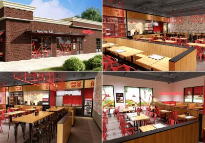 The new store design at MOOYAH BURGERS FRIES & SHAKES.