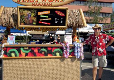 Food service operators open mobile carts and trucks to serve menu at events.