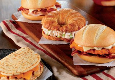 Quick service concepts with breakfast focus offer more menu items for lunch day part.