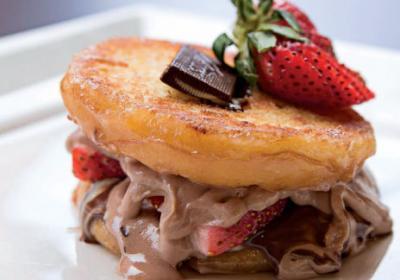 Upstart grilled cheese quick service restaurant serves premium grilled cheese sandwiches.