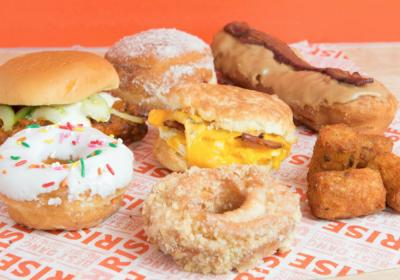 Rise Biscuits Donuts.