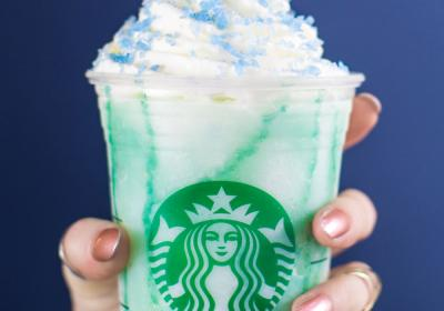 Starbucks' new Crystal Ball Frappuccino.