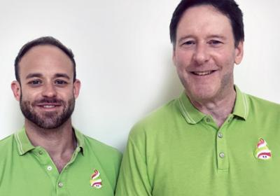 Corporate marketer turned builder teams up with son in Menchie's venture.