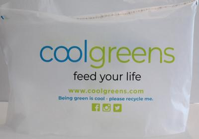 Coolgreens' delivery packaging.