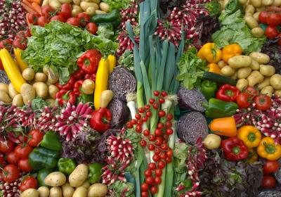 A table full of vegetables.