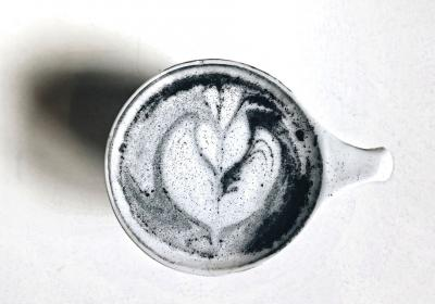 Werewolf Coffee's  Charcoal Latte