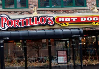 Portillo's Hot Dogs restaurant in Chicago.