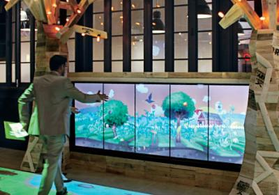 High tech restaurant tools give customers interactive games to play in the store