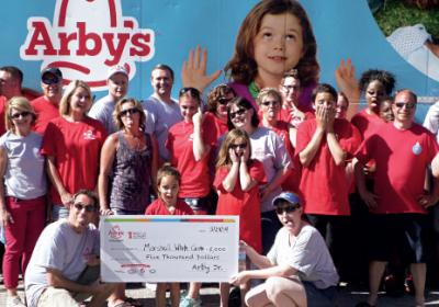 Quick service restaurants like Arbys launch charity events to raise money and awareness.