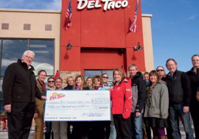 QSR franchisee use community work to improve local Del Taco stores.