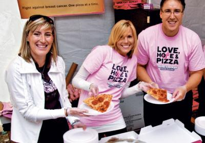 QSR chains promote breast cancer awareness through restaurant marketing campaigns.