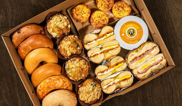 Einstein Bros. Bagels brunch box.