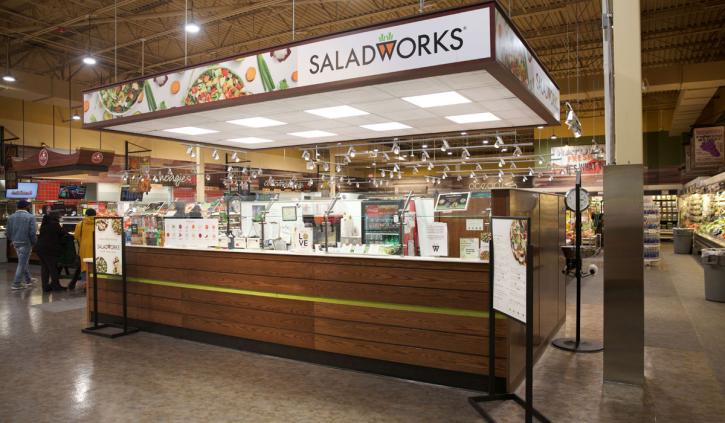 Saladworks nontraditional store.