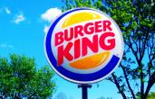 Burger King sign outside.