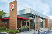 Exterior of a Burger King restaurant.