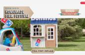 Domino's graphic on film festival promotion.