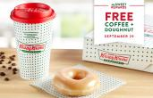 Krispy Kreme cup of coffee.