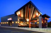 The exterior of Blaze Pizza fast casual restaurant.