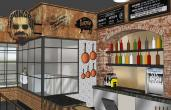 Rendering of a food hall from Zislis Group.