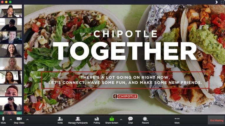 Chipotle virtual hangouts.