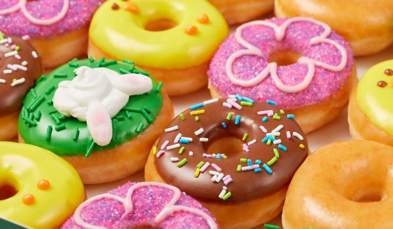 Introducing Spring Minis, Krispy Kreme's first ever seasonal, limited-time collection of Mini doughnuts.