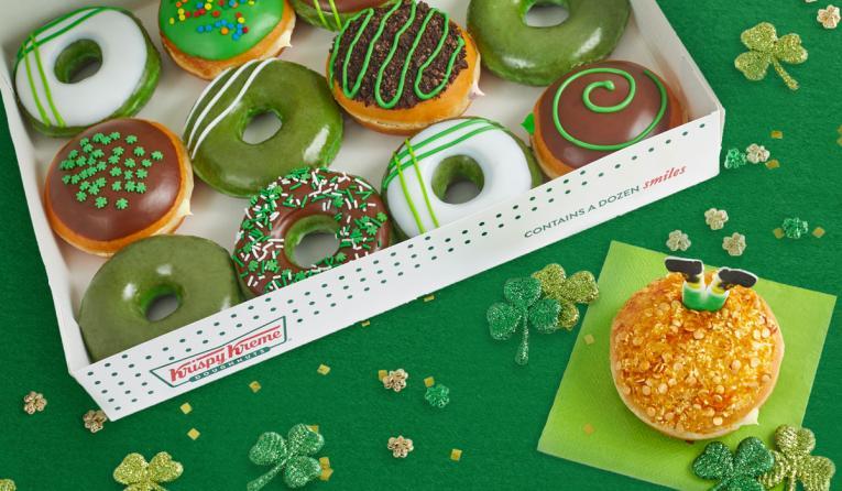 Krispy Kreme has created a Leprechaun Trap Doughnut filled with Irish Kreme flavor to catch them March 14-17.